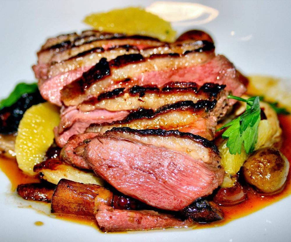 Tea smoked duck breast