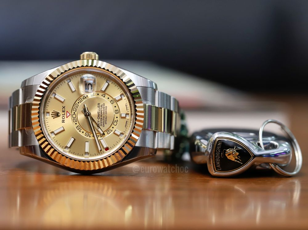 Just the essentials The Rolex Sky,Dweller 326933 in two