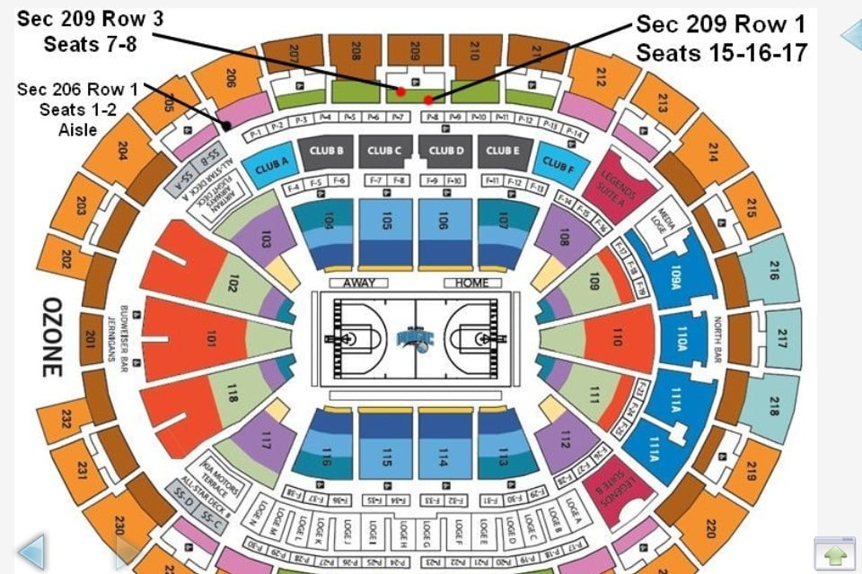 Seating chart at amway center call or text me if interested in the