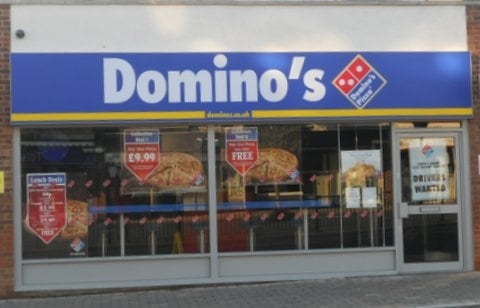 dominos pizza pizzerie 40a spa road essex regno