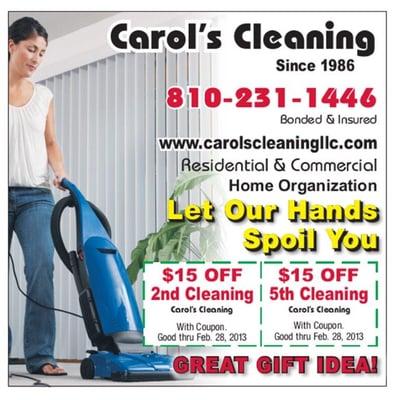 Carol house coupons