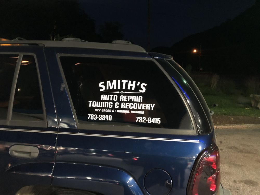 Smith's Auto Repair Towing & Recovery: 327 Broad St, Marion, VA