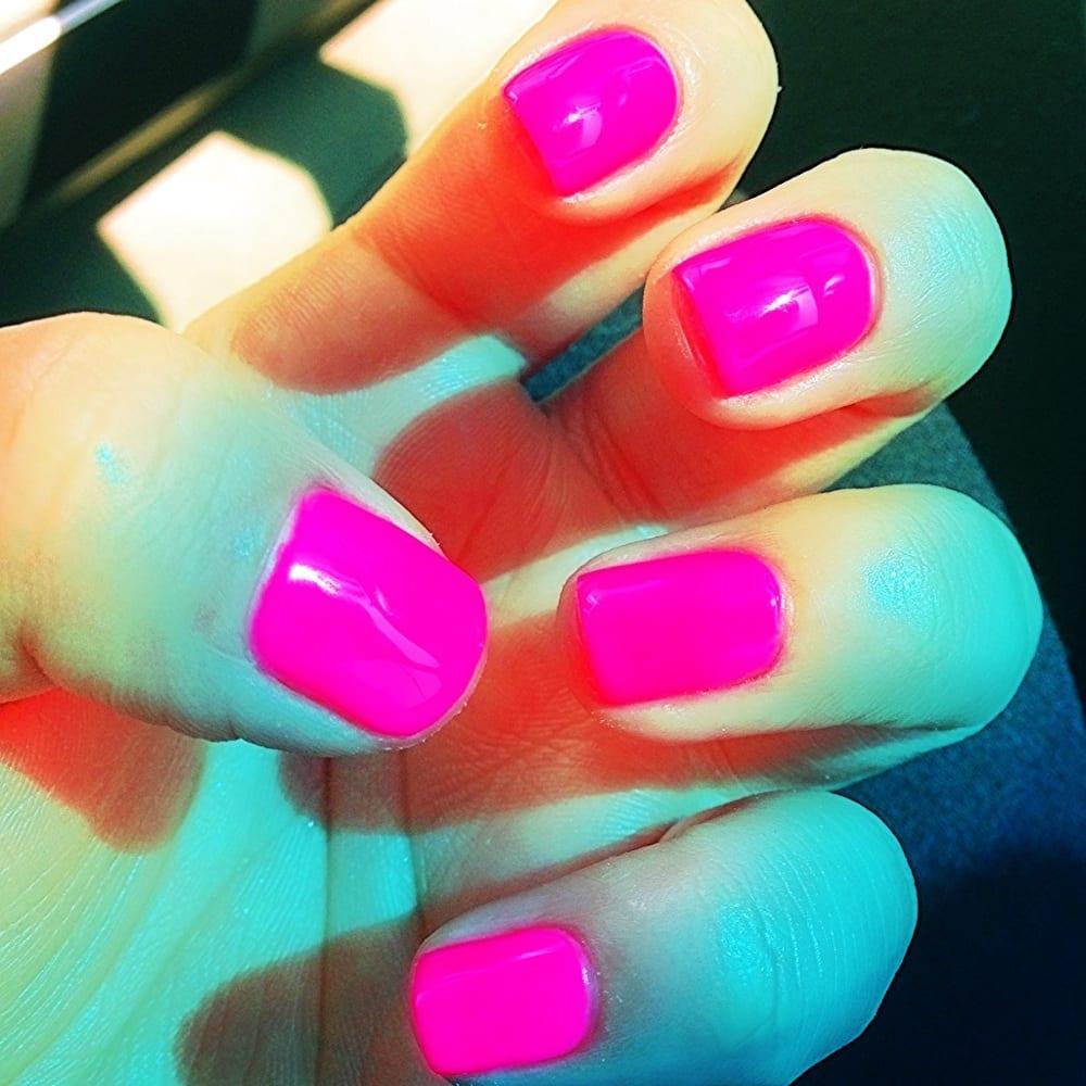 Hot pink gel nail polish....in love!! - Yelp