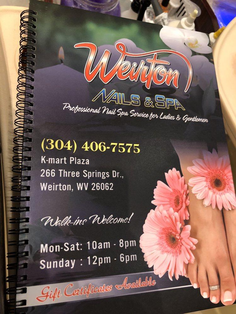 Weirton Nails & Spa: 262 Three Springs Dr, Weirton, WV