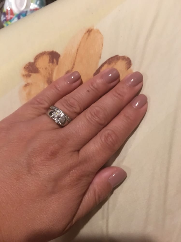 Pretty gel color for my manicure. Neutral colors are so simple but ...