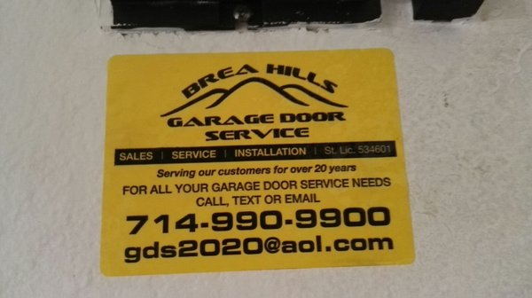 Brea Hills Garage Doors 2771 Saturn Street St E Brea, CA Doors Garage    MapQuest
