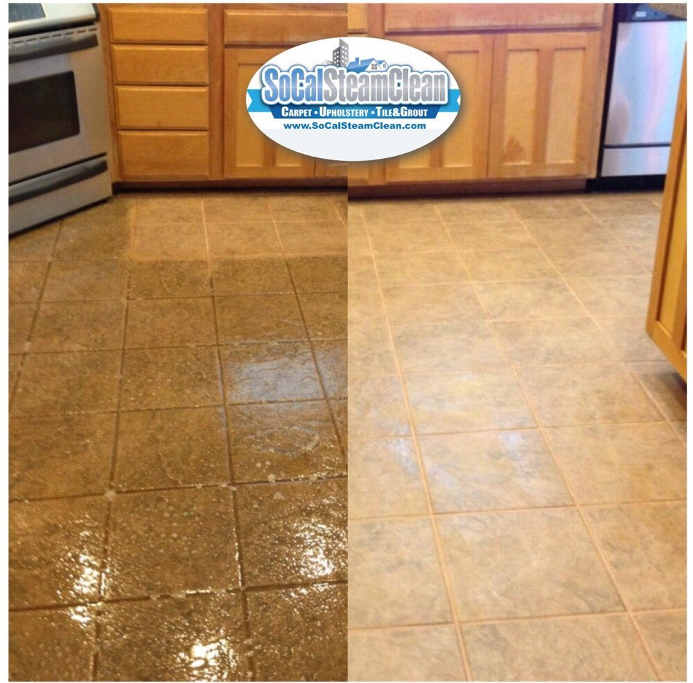 Tile And Grout Cleaning Side By Side Before And After Yelp