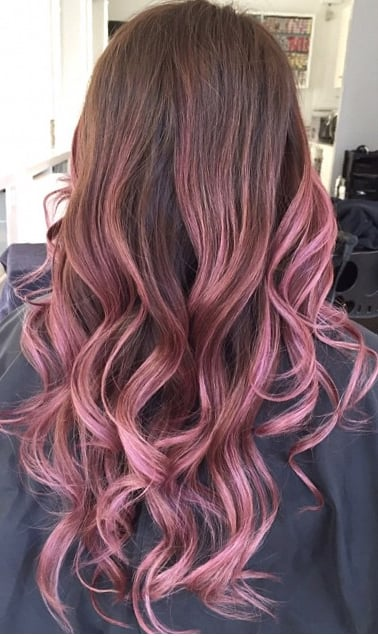 Balayage By Lorettatomhair Pink Ombre Rose Yelp