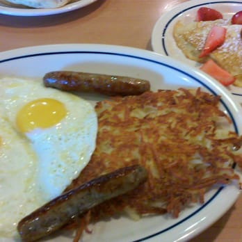 Choose your favorite IHOP® pancake flavor and we'll bring you two! You'll also enjoy two eggs*, two bacon strips or pork sausage links, and our golden hash browns/5().