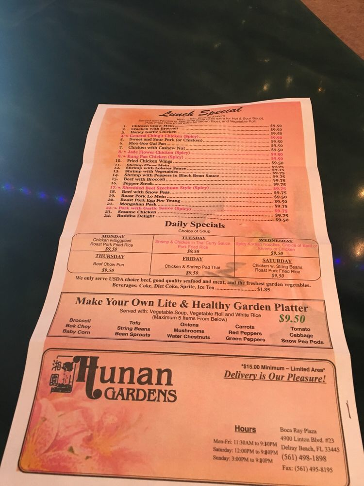 Photo Of Hunan Gardens Chinese Restaurant Delray Beach Fl United States