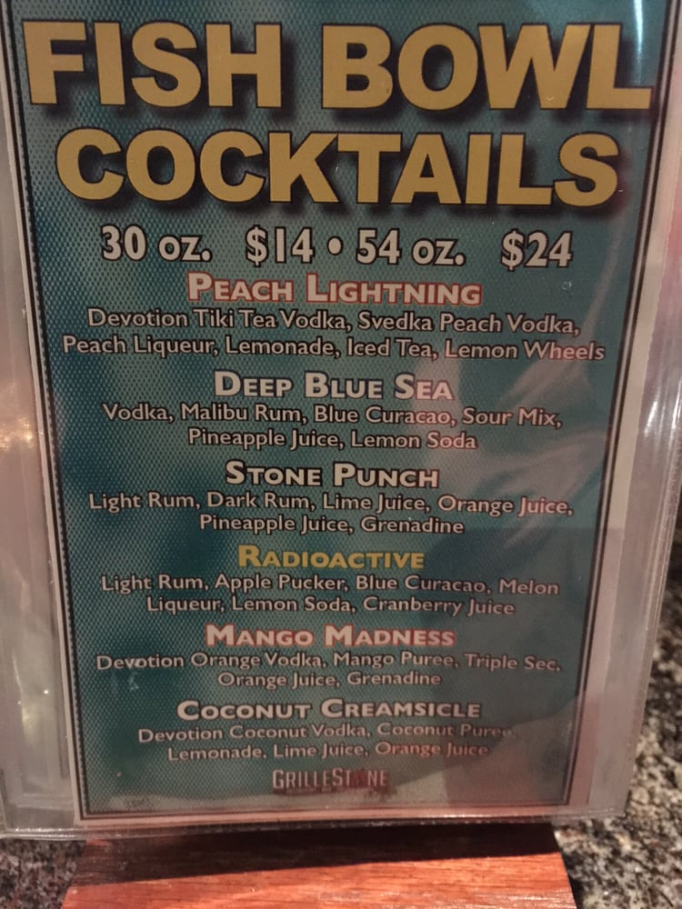 Photo Of Grillestone Restaurant Scotch Plains Nj United States Fishbowl Drinks