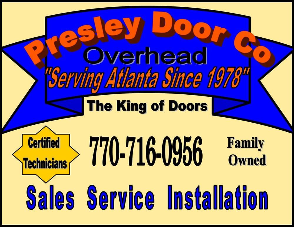 Presley door company closed garage door services for Garage door company atlanta