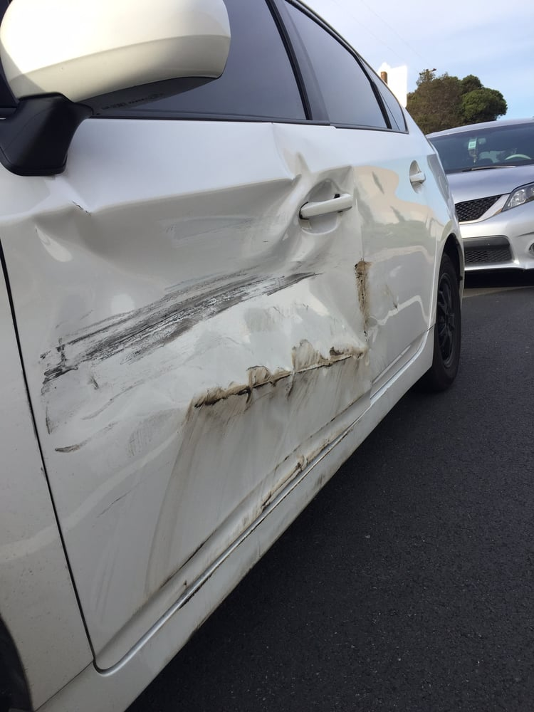 Photo of Jungs Auto Body - Walnut CA United States. 2013 Prius Before & 2013 Prius Before (Front/Rear door damage side skirt rear quarter ...