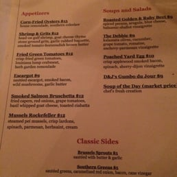 Dick and jennys menu