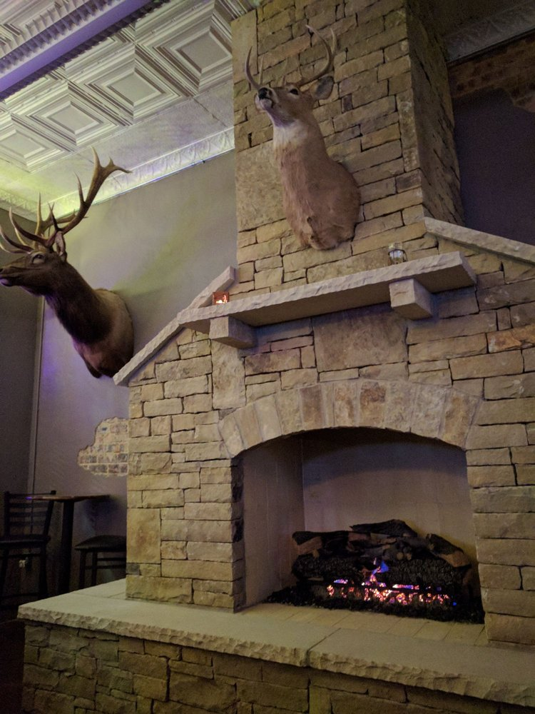 Photo Of The Lazy Moose Fort Worth Tx United States Cozy Fireplace