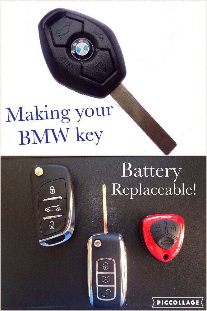 Turn your BMW key into a flip key  Battery can be changed on