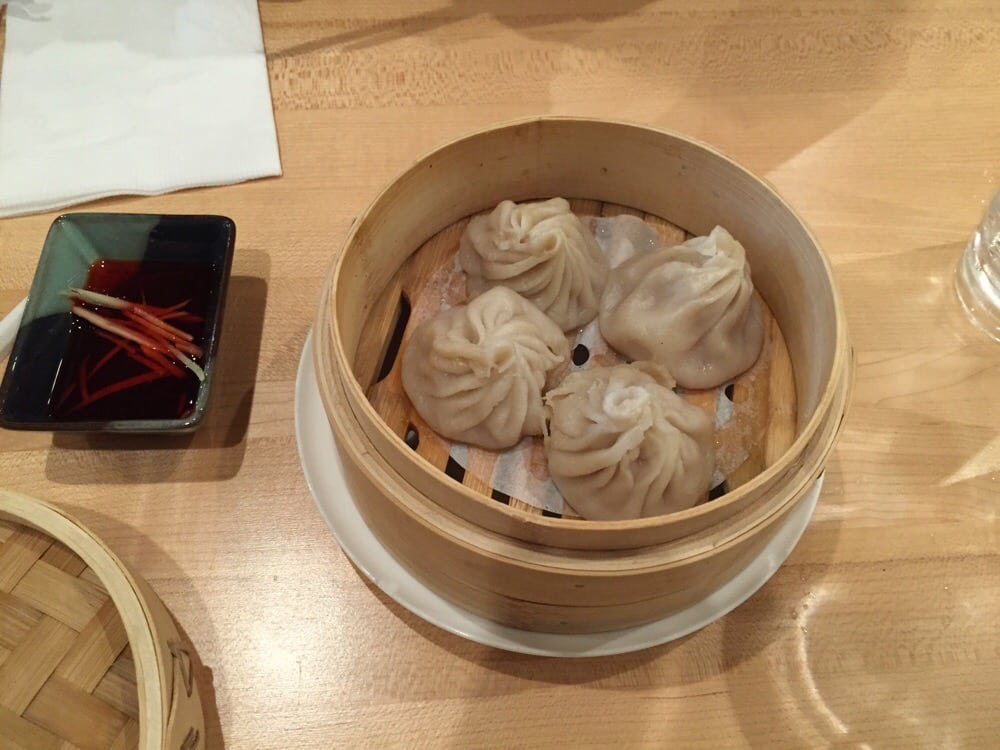 Poorly made xiao long bao - all stuck together and mushy