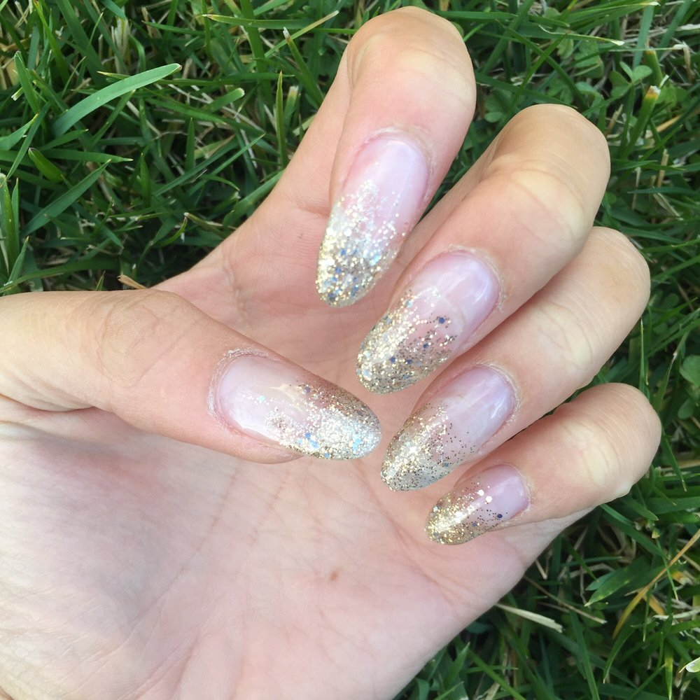 Fill with glitter ombré gel tip - Yelp
