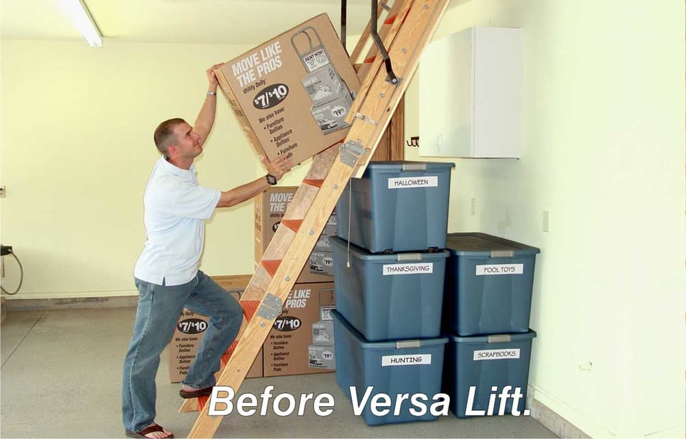 Photo of Versalift Systems - Oklahoma City OK United States. Versa Lift Attic & Versa Lift Attic Lift System versaliftattic.com 800-349-0527 405-516 ...