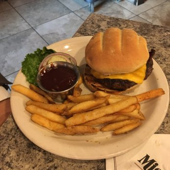 Classic Burger and Fries at Misty's.