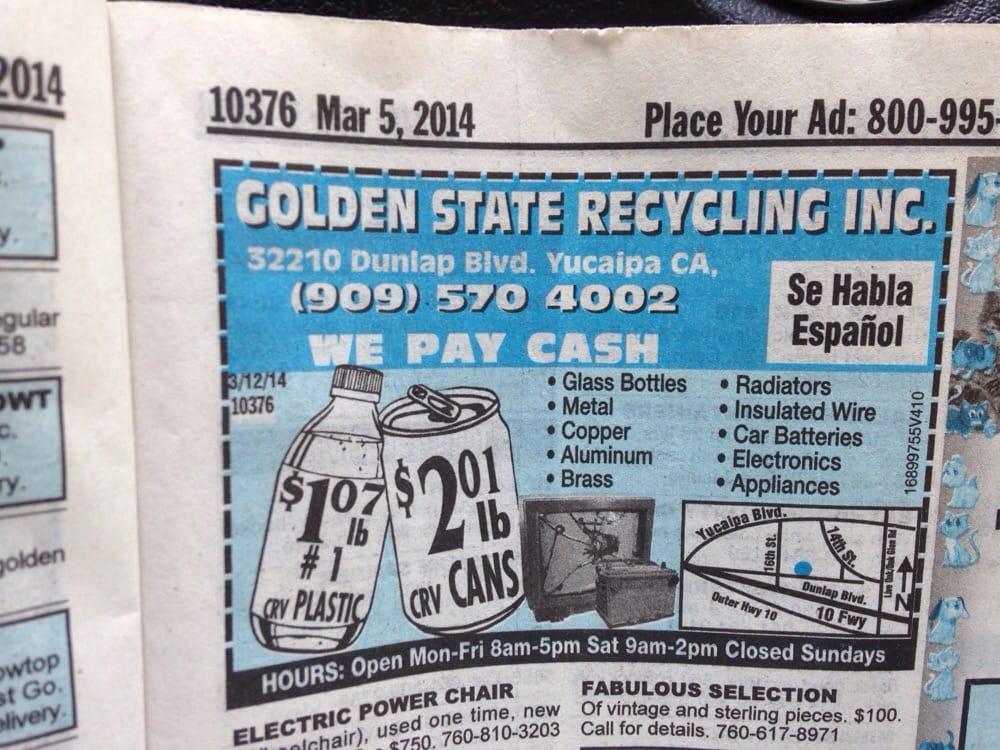 Golden State Recyling - Recycling Center - 32210 Dunlap Blvd ...