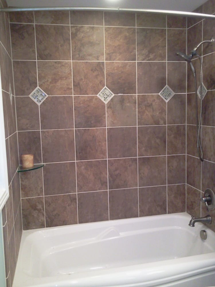 Tub/Shower combo-custom tile surround with keys - Yelp