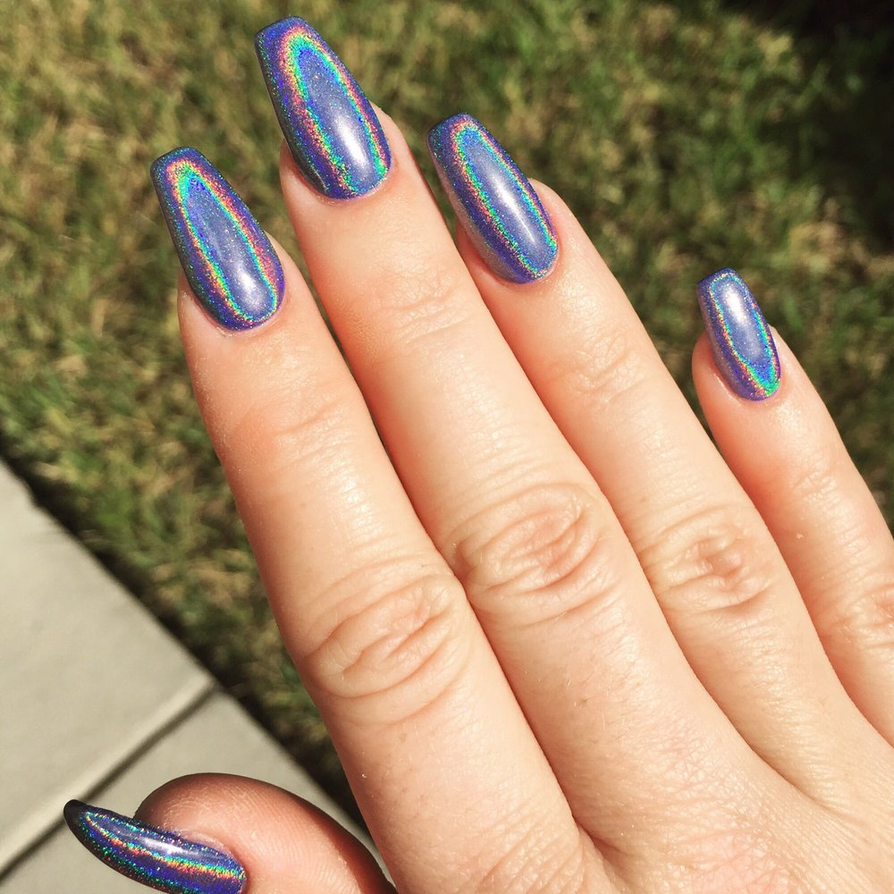 Holographic nails done by Tacy! I\'m so in love! You can pick any ...