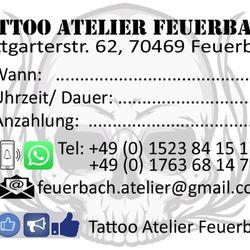 Tattoo Atelier Feuerbach - Tattoo - Stuttgarterstr  62, Stuttgart