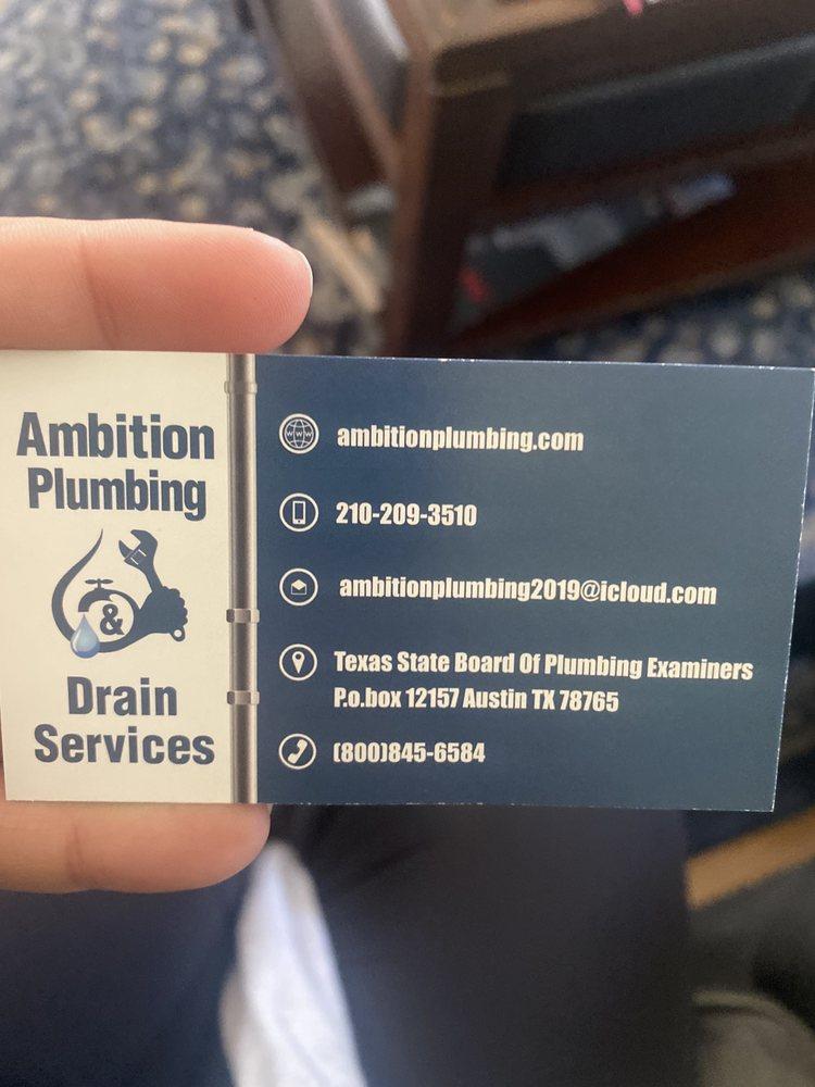 Ambition Plumbing & Drain Services: San Antonio, TX