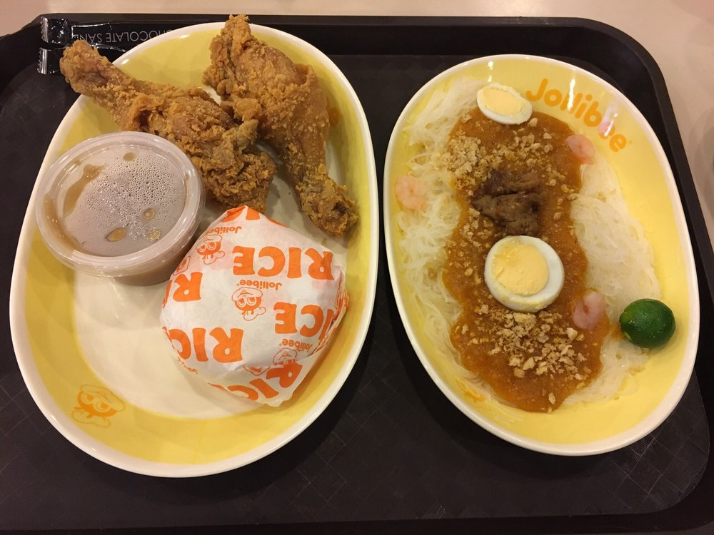 Two Pc Chicken Meal And Pancit Palabok Yelp