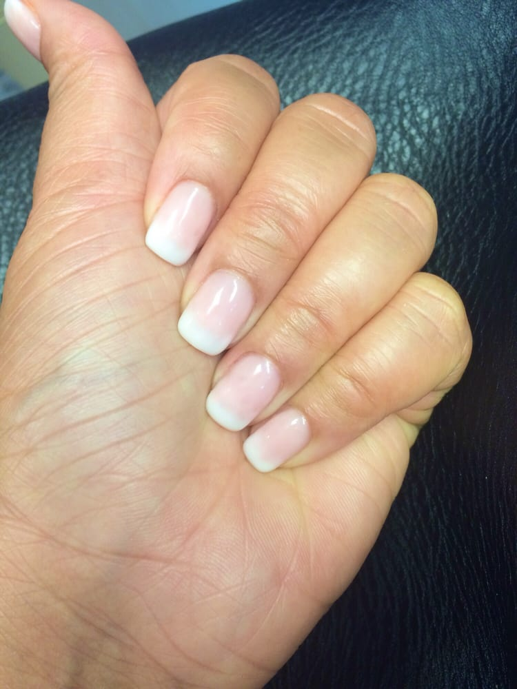 Ombré gel manicure on natural nails by Amy. - Yelp