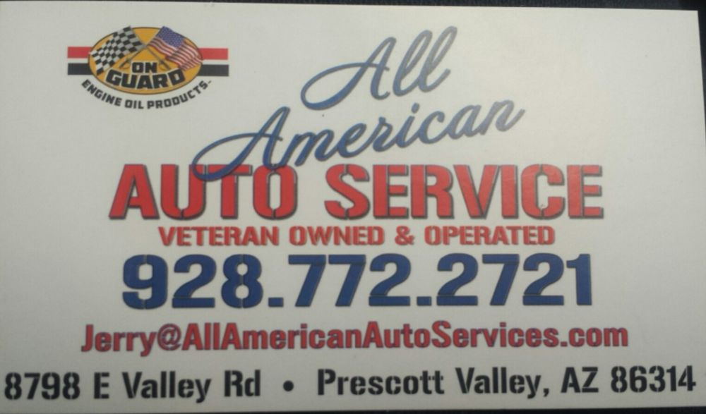 All American Auto Service: 8798 East Valley Rd, Prescott Valley, AZ