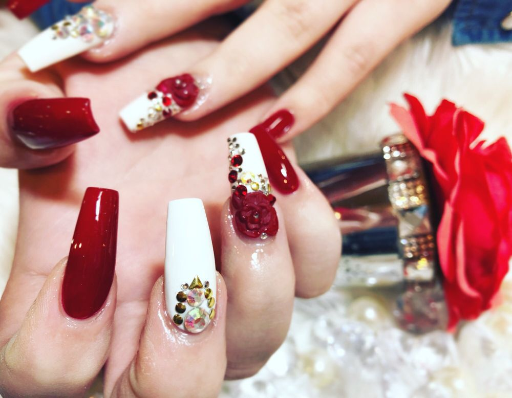 Red Rose 3d Nails Art Yelp