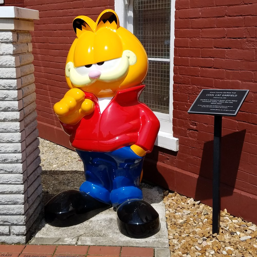 Garfield Trail:  Cool Cat: 203 E Washington St, Fairmount, IN