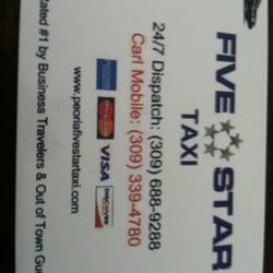 Peoria Five Star Taxi - Taxis - 911 E Elmhurst Ave, Peoria, IL