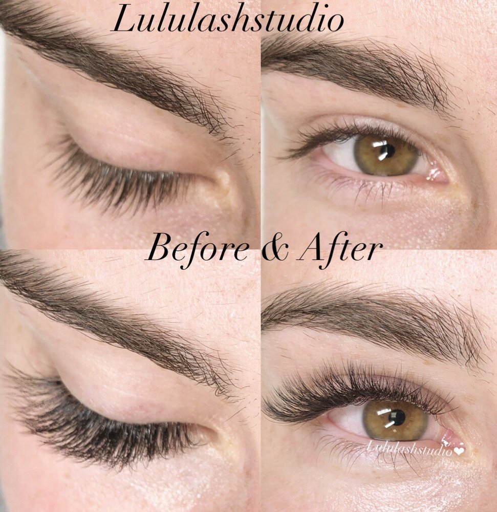 75da7ec0111 This is a photo of a before lash extensions and after having a ...