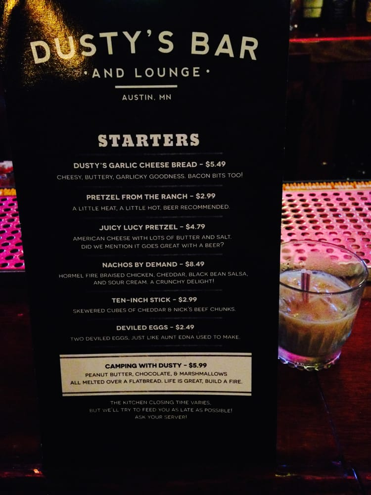 Dusty's Bar & Lounge: 422 N Main St, Austin, MN