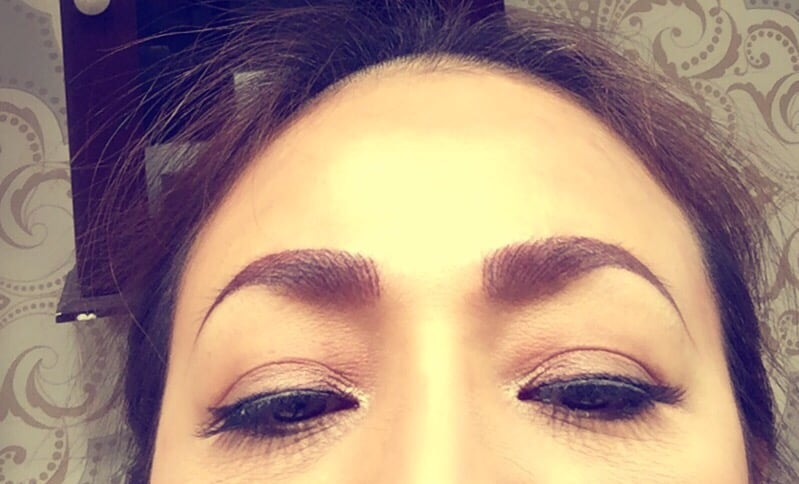 Right after the procedure yelp for 3d eyebrow tattoo el monte ca