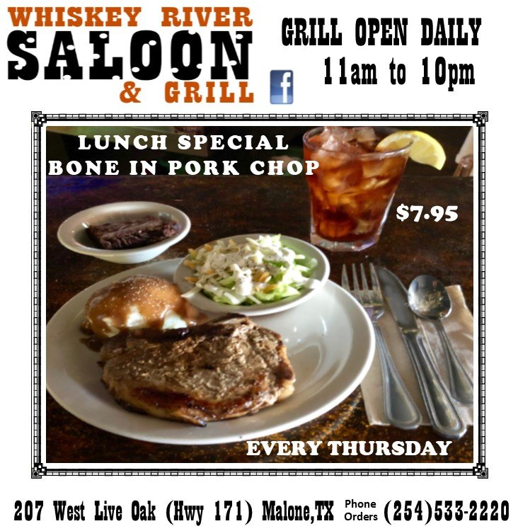 Whiskey River Saloon: 207 W Live Oak, Malone, TX