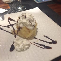 Kumo Sushi, Hibachi, and Lounge - New City, NY, United States. Ice cream tempura!