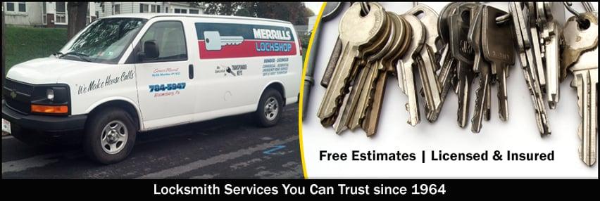 Merrill's Lockshop: 1102 Market St, Bloomsburg, PA