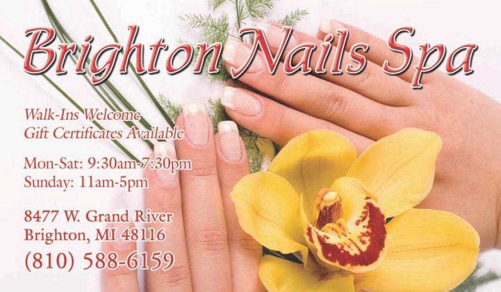 Brighton Nails Spa: 8477 W Grand River Ave, Brighton, MI