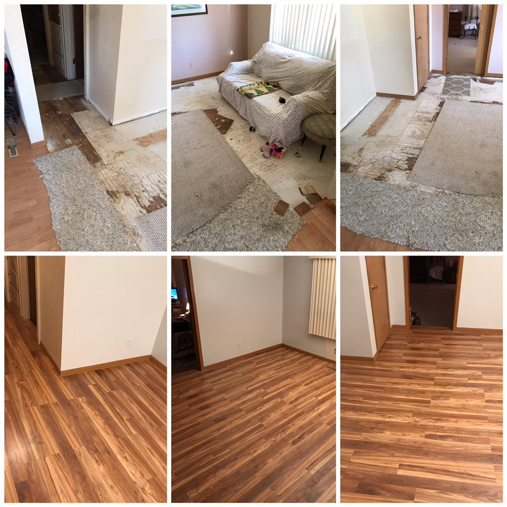 Upholstery Cleaning Lincoln Ne: Laminate Install.