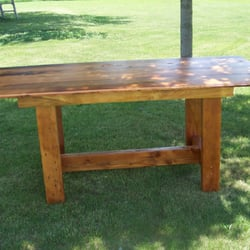 Photo Of Wooden Ways   Grand Junction, IA, United States. Barn Wood Table