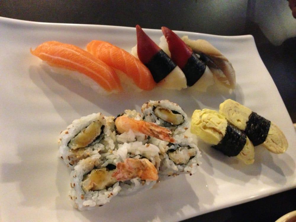 tempura roll snapper salmon tamago and mackerel sushi. Black Bedroom Furniture Sets. Home Design Ideas