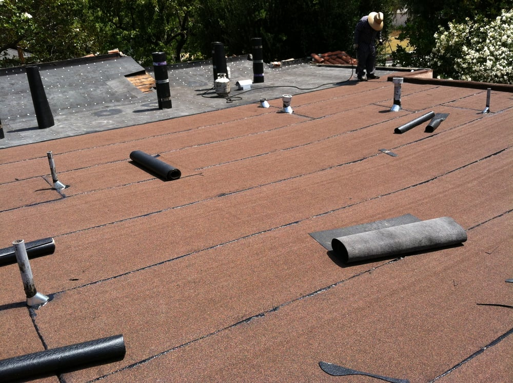Flat Roof Installation : Flat roof installation apply torch applied roll roofing
