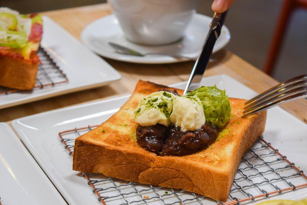 Food from Kimura Toast Bar