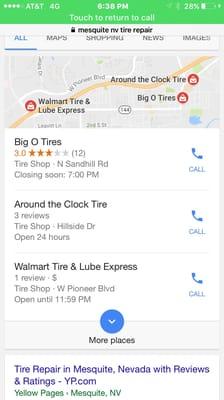 Big O Tires 136 N Sandhill Blvd Mesquite Nv Tire Dealers Mapquest