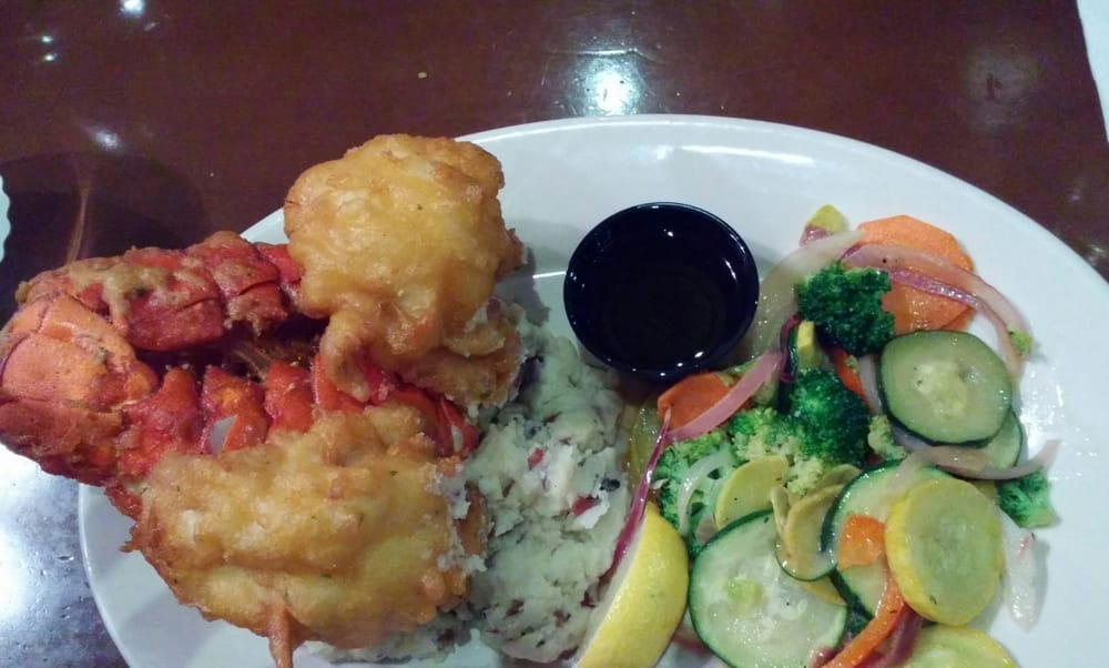 Twin fried lobster tails very good and tender yelp for Detroit fish market