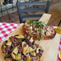 Two parts of the bruschetta trio yelp for Grimaldi s pizza palm beach gardens